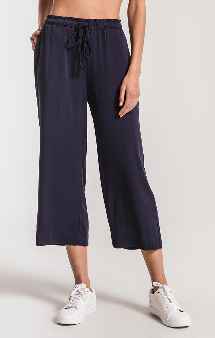 Pants Riviera Wide Leg Cropped Pant by Rag Poets Parisian Night