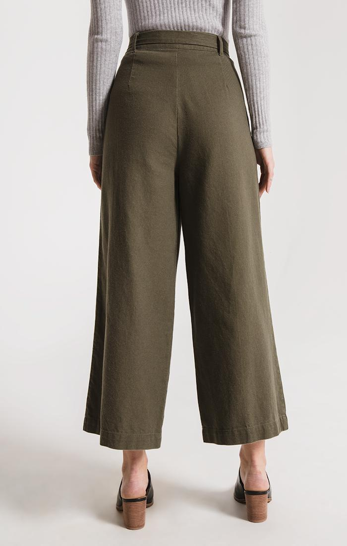 Pants State Wide Leg Pant By Rag Poets Grape Leaf