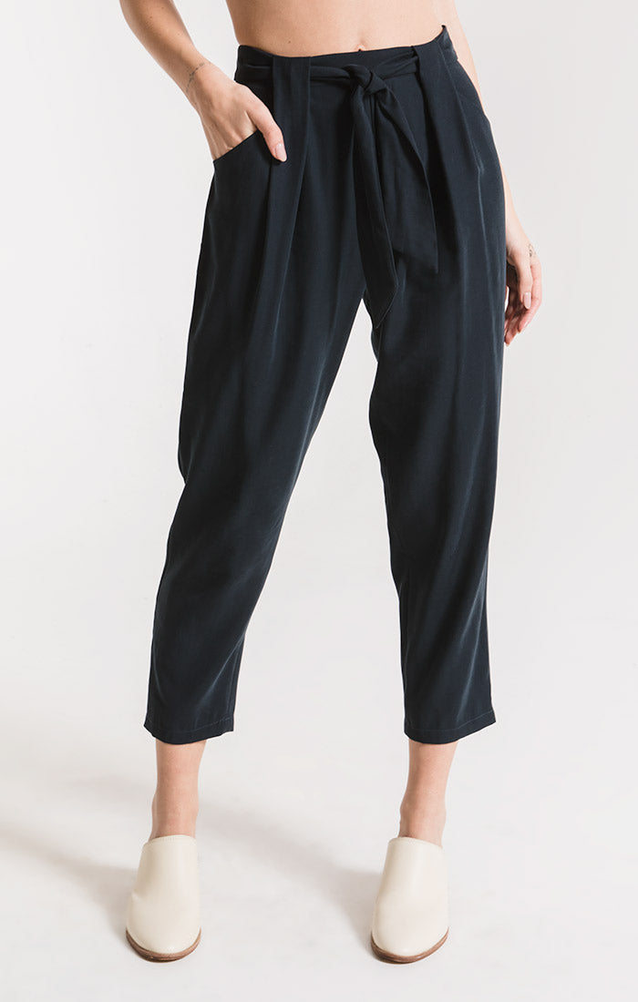 Pants Utica Pleated Pant By Rag Poets Deep Navy