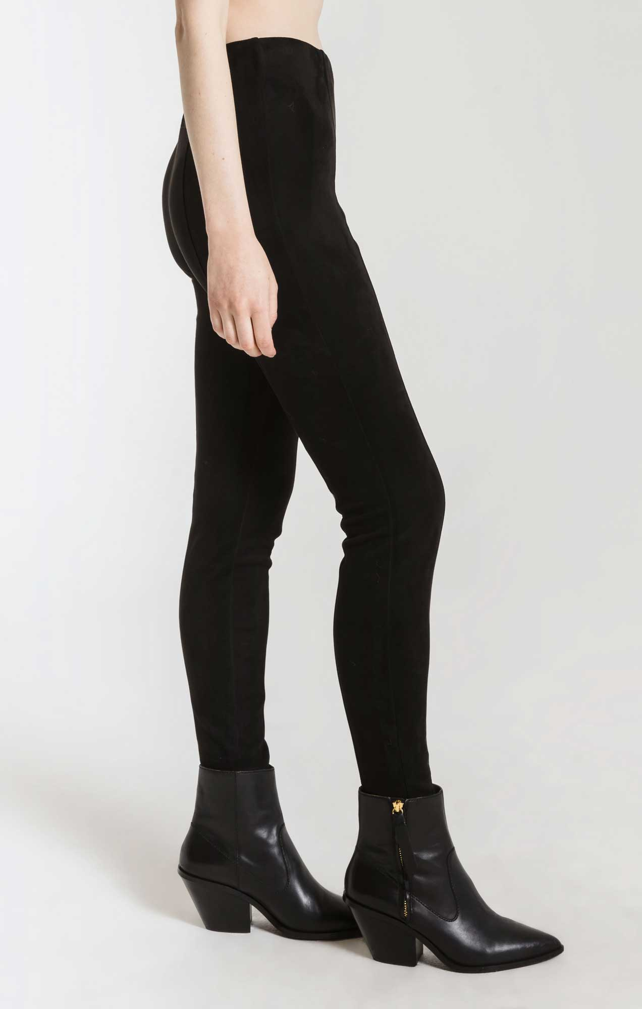 Pants Jutland Stretch Suede Pant By Rag Poets Black