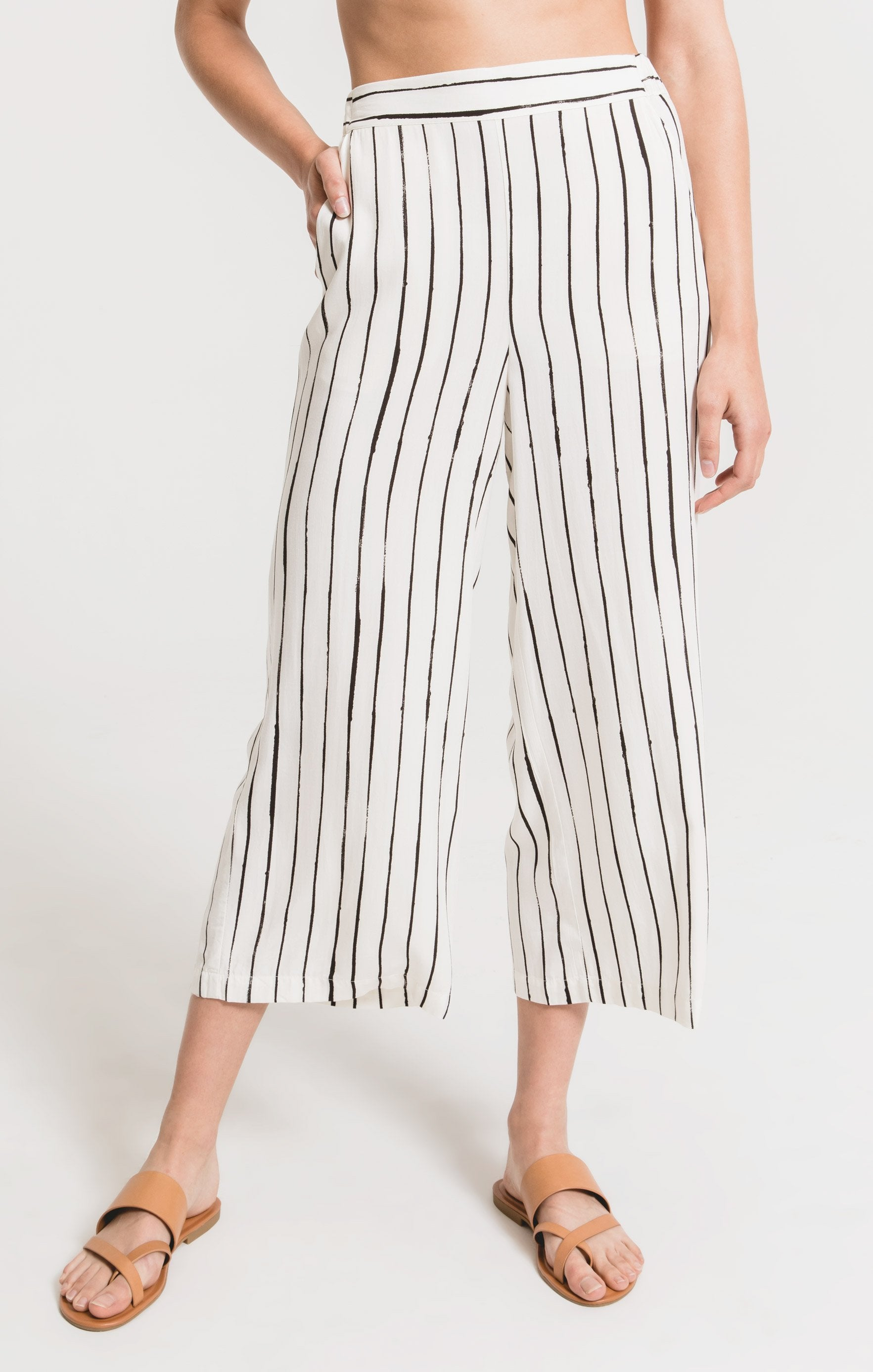 Pants Cardona Striped Pant by Rag Poets Gardenia