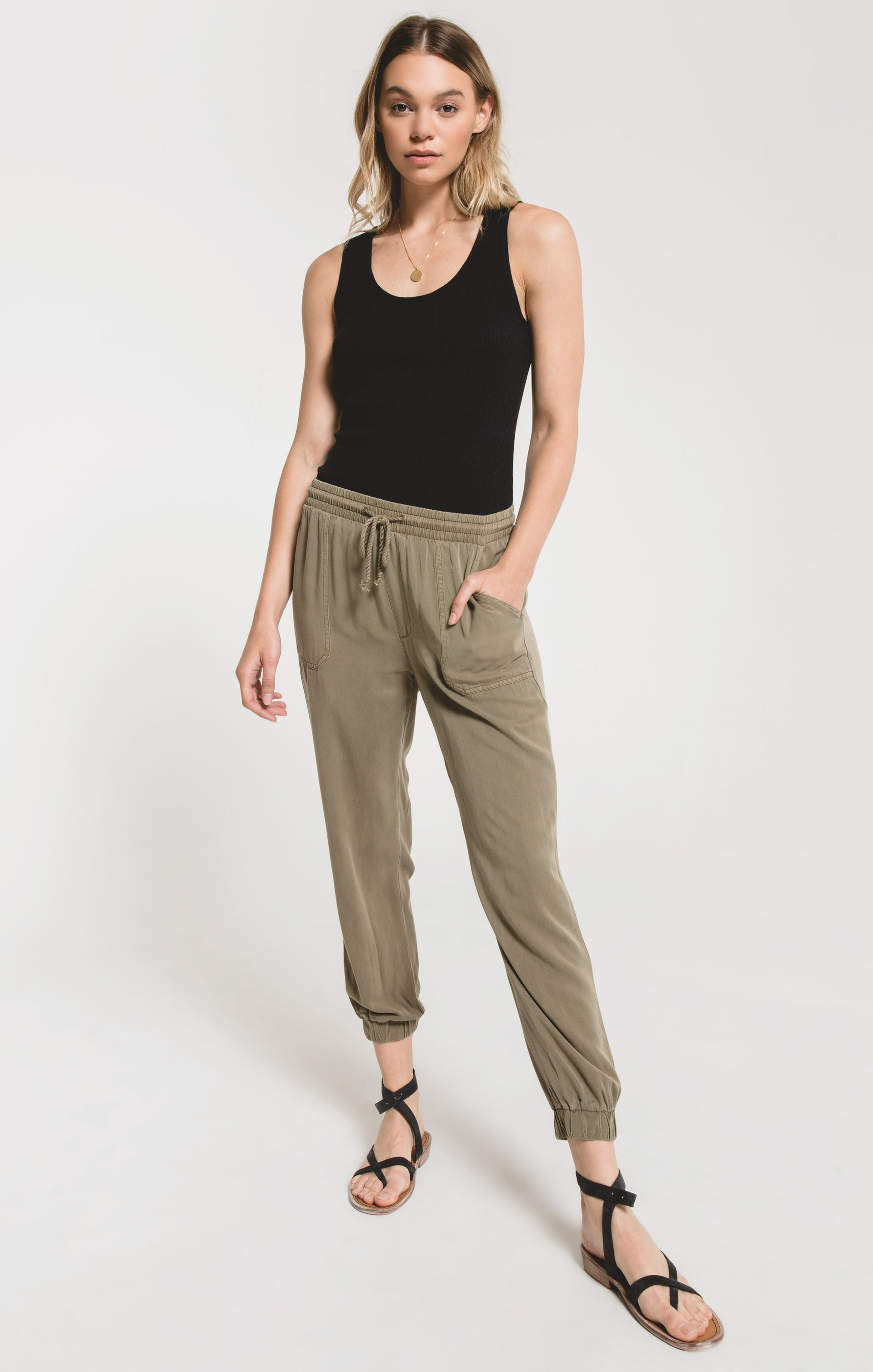 Pants Piedmont Jogger Pant by Rag Poets Dusky Green