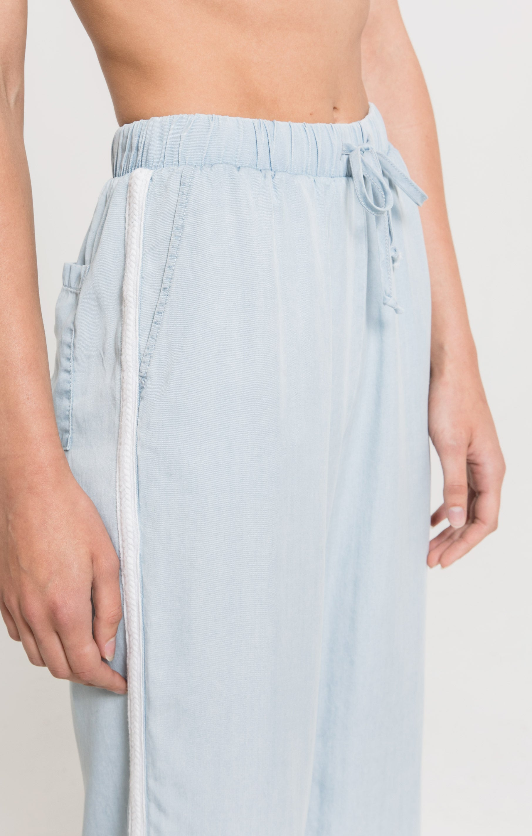 Pants Scopello Pant by Rag Poets Soft Blue