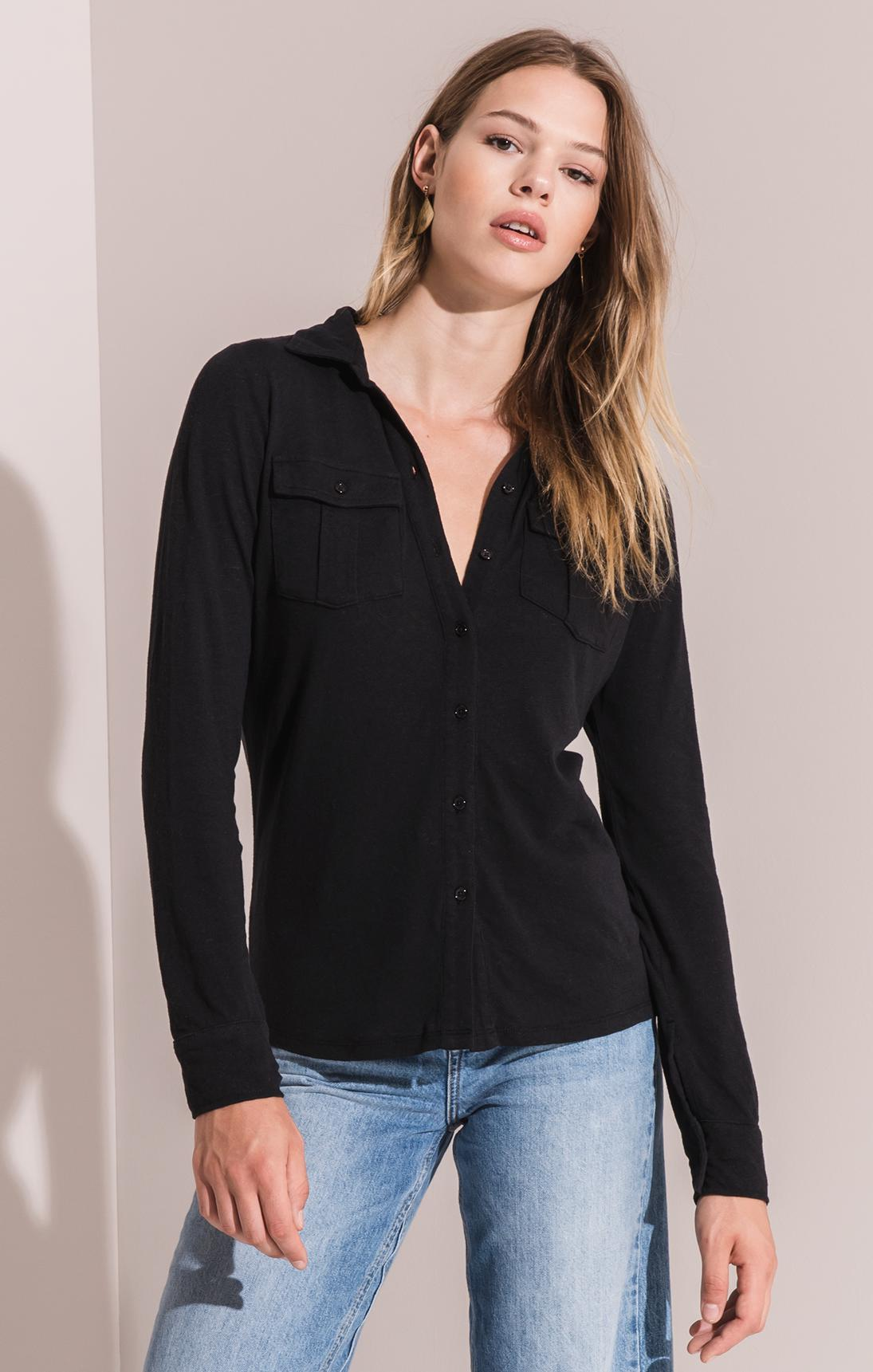 Tops Rincon Button-Up Shirt By Rag Poets Black