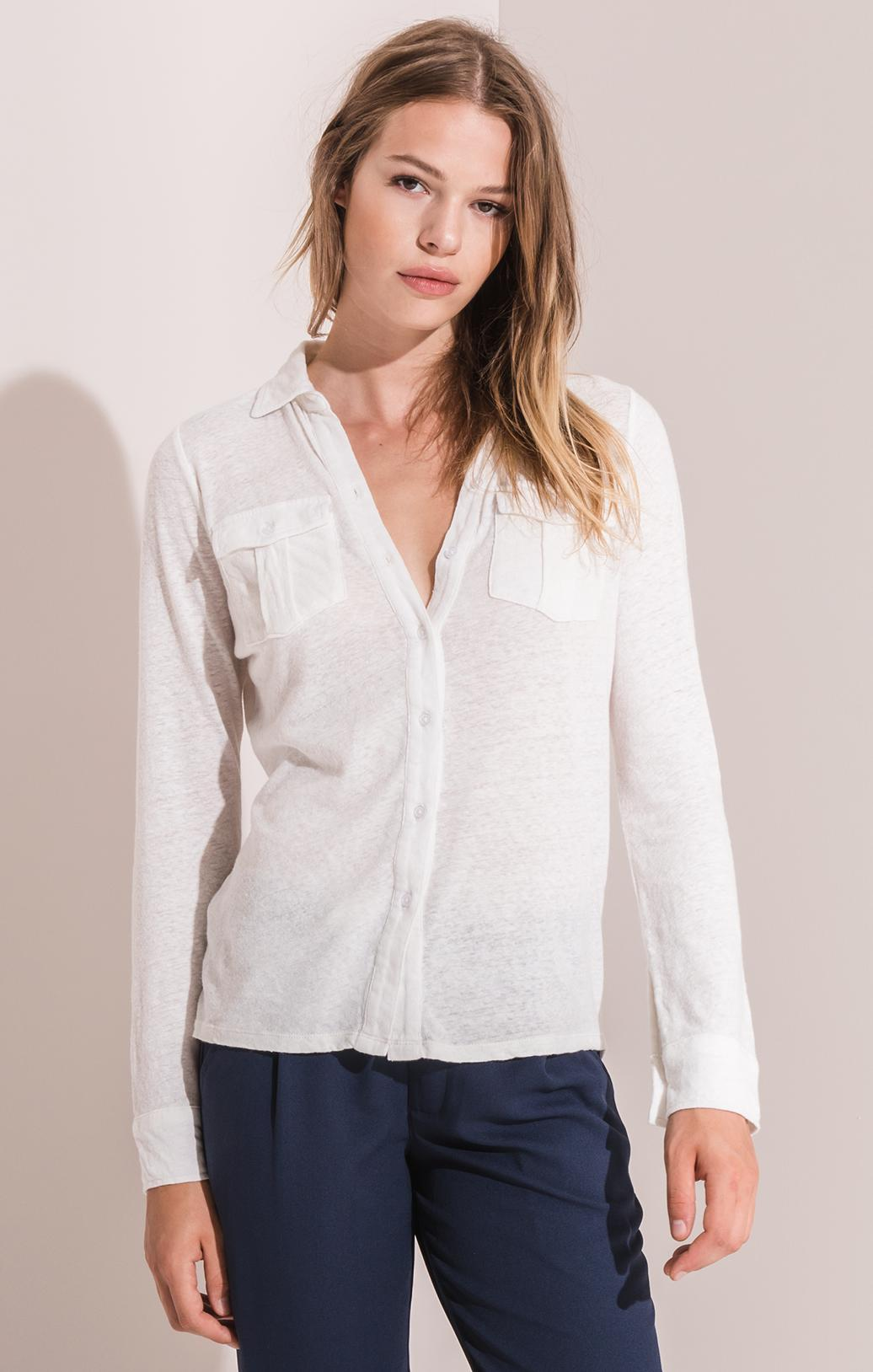 Tops Rincon Button-Up Shirt By Rag Poets White