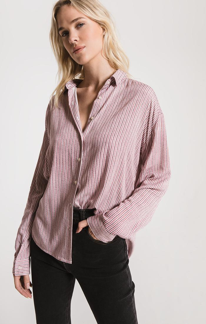 Tops Montrose Button-Up Shirt By Rag Poets Wild Ginger
