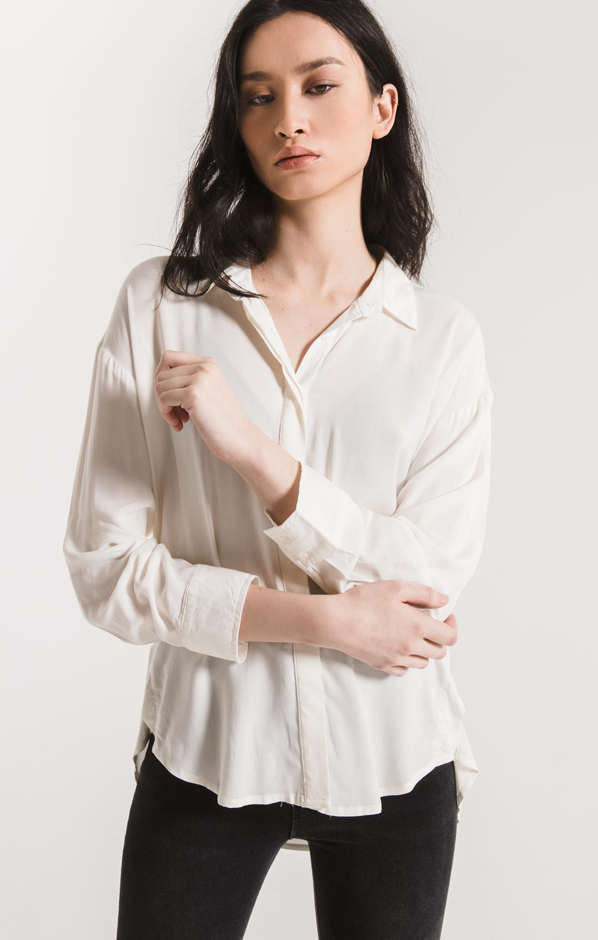 Tops Morgan Button-Up Shirt By Rag Poets White