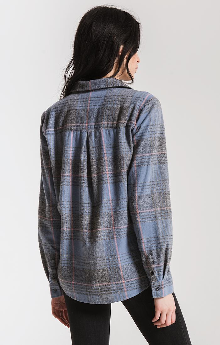 Tops Kane-Grace Button-Up Shirt By Rag Poets Faded Blue