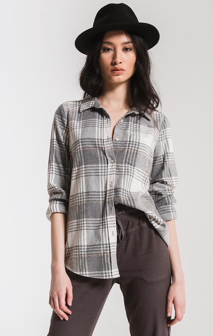 Tops Kane-Grace Button-Up Shirt By Rag Poets Winter White