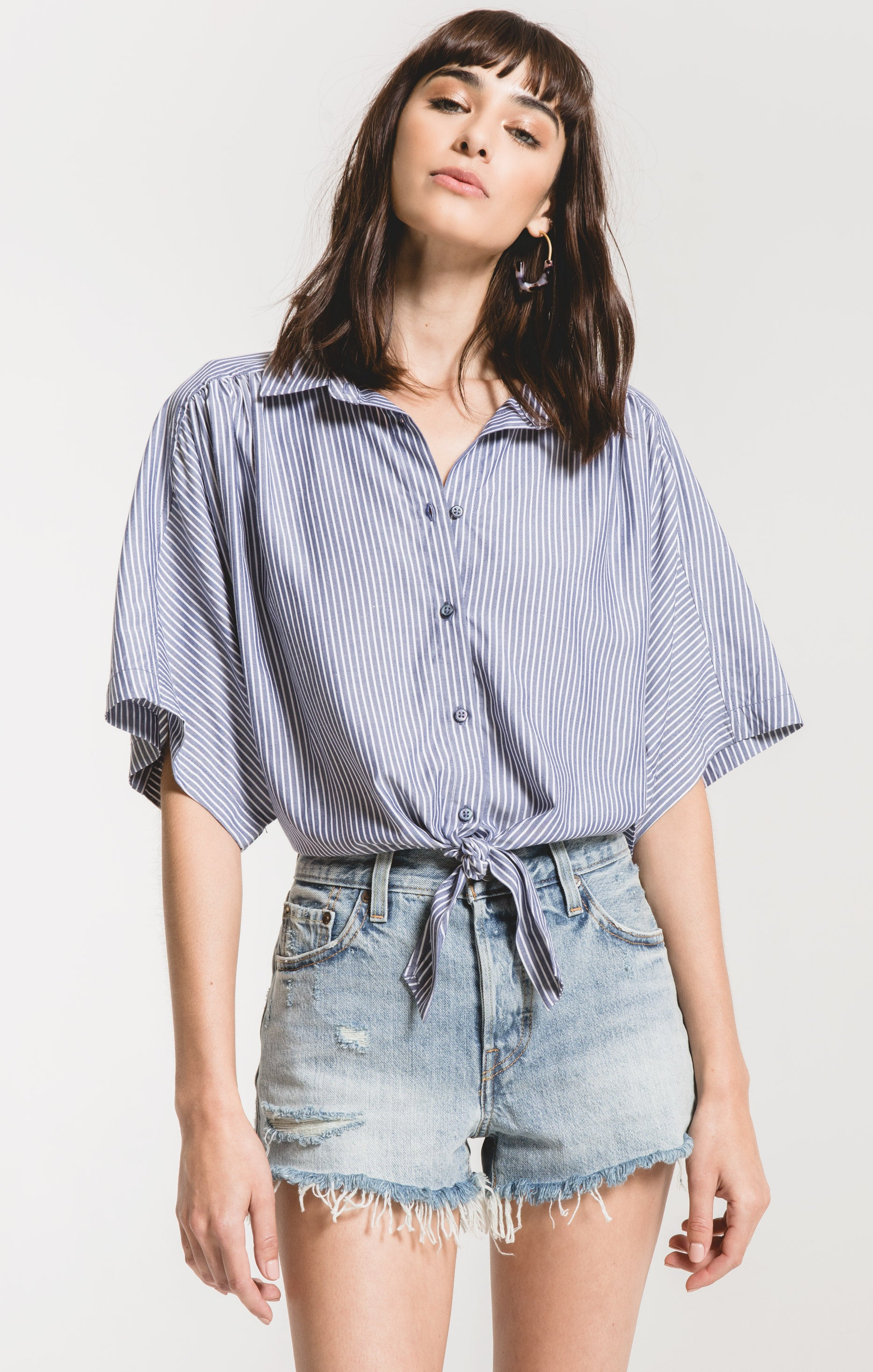 Tops Milano Top by Rag Poets Twilight Blue
