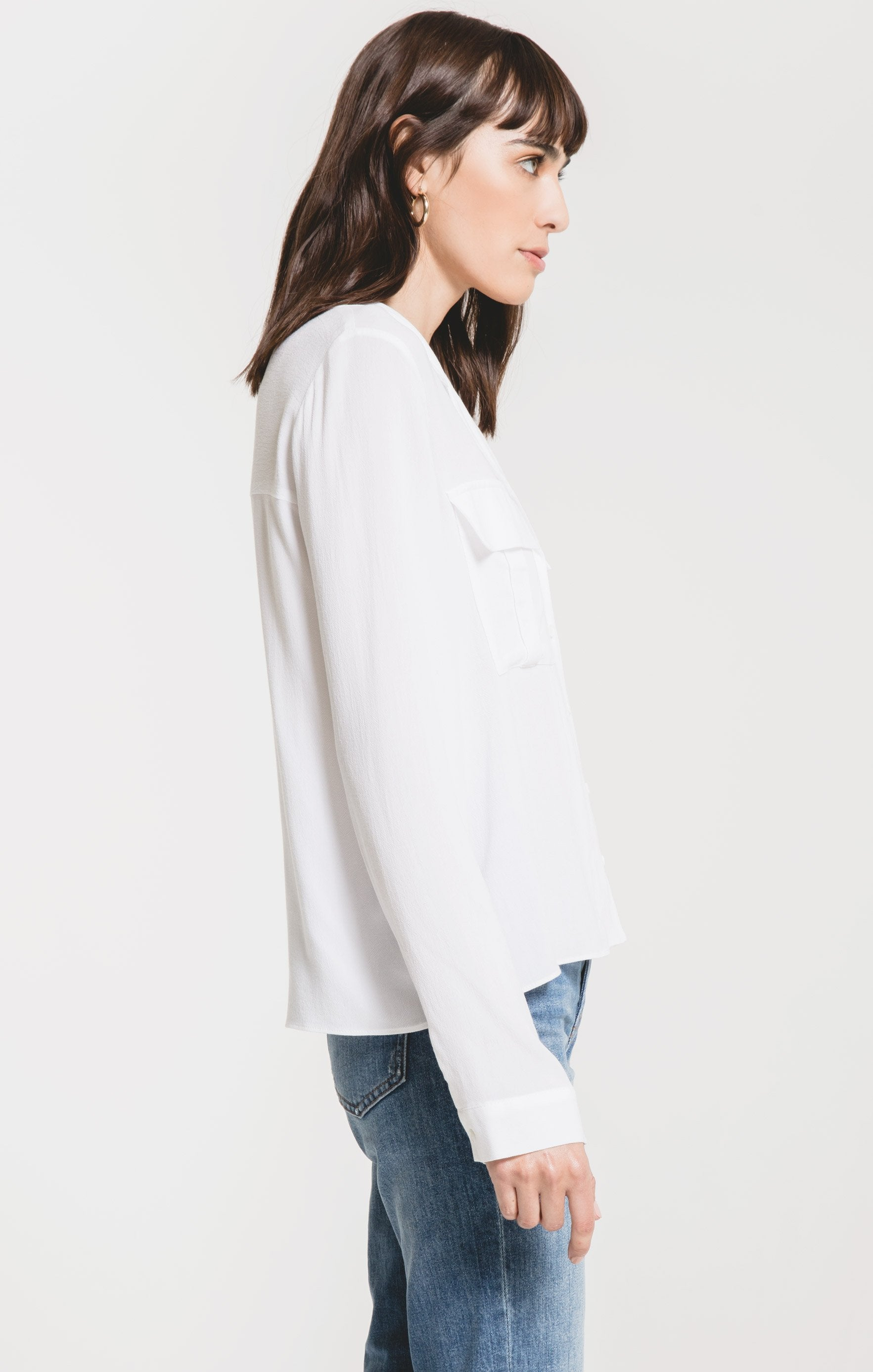 Tops Mazarro Collared Shirt by Rag Poets White