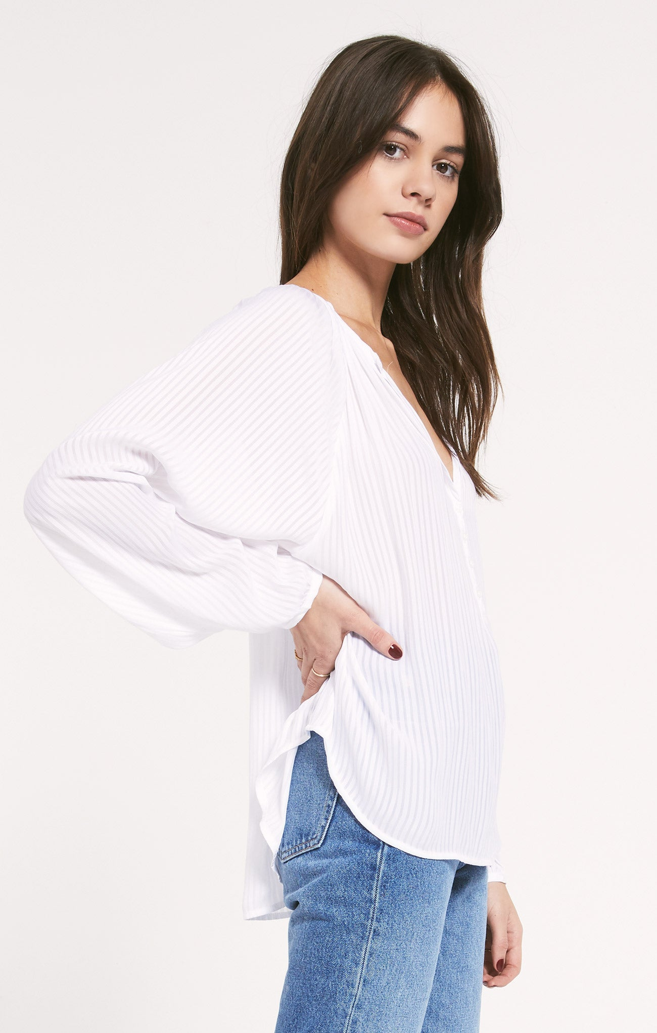 Tops Citadella Top by Rag Poets White