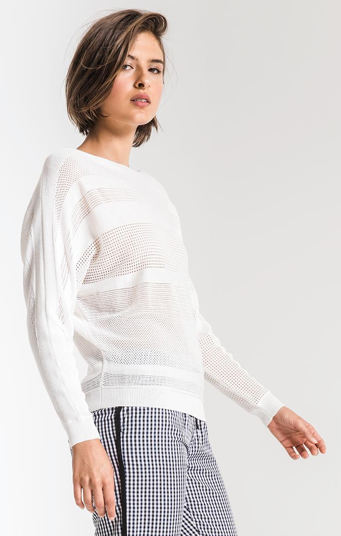 Sweaters Nikki Beach Knitwear Sweater By Rag Poets Soft White