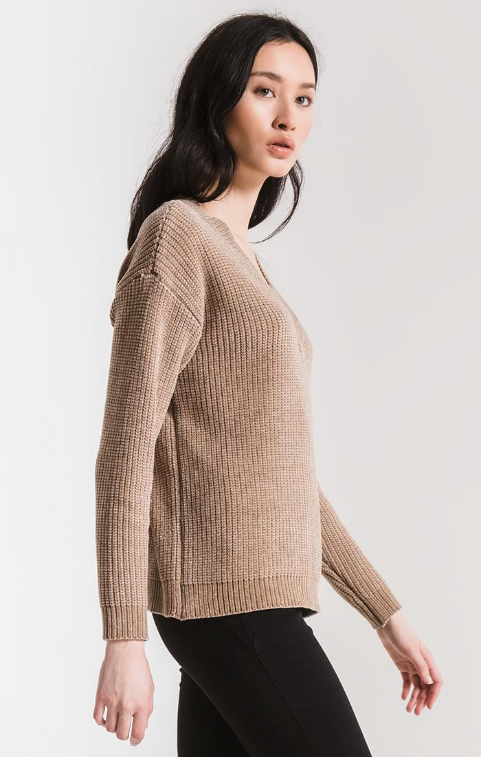 Sweaters Clara Chenille Sweater By Rag Poets Brownstone