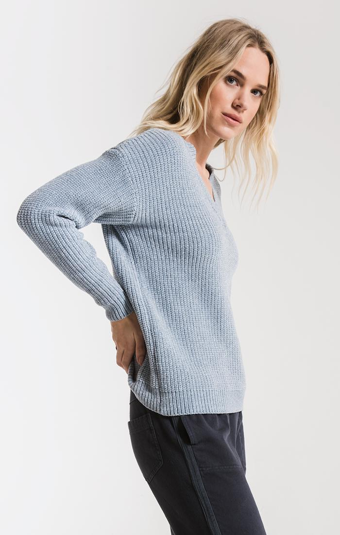 Sweaters Clara Chenille Sweater By Rag Poets Dusty Blue