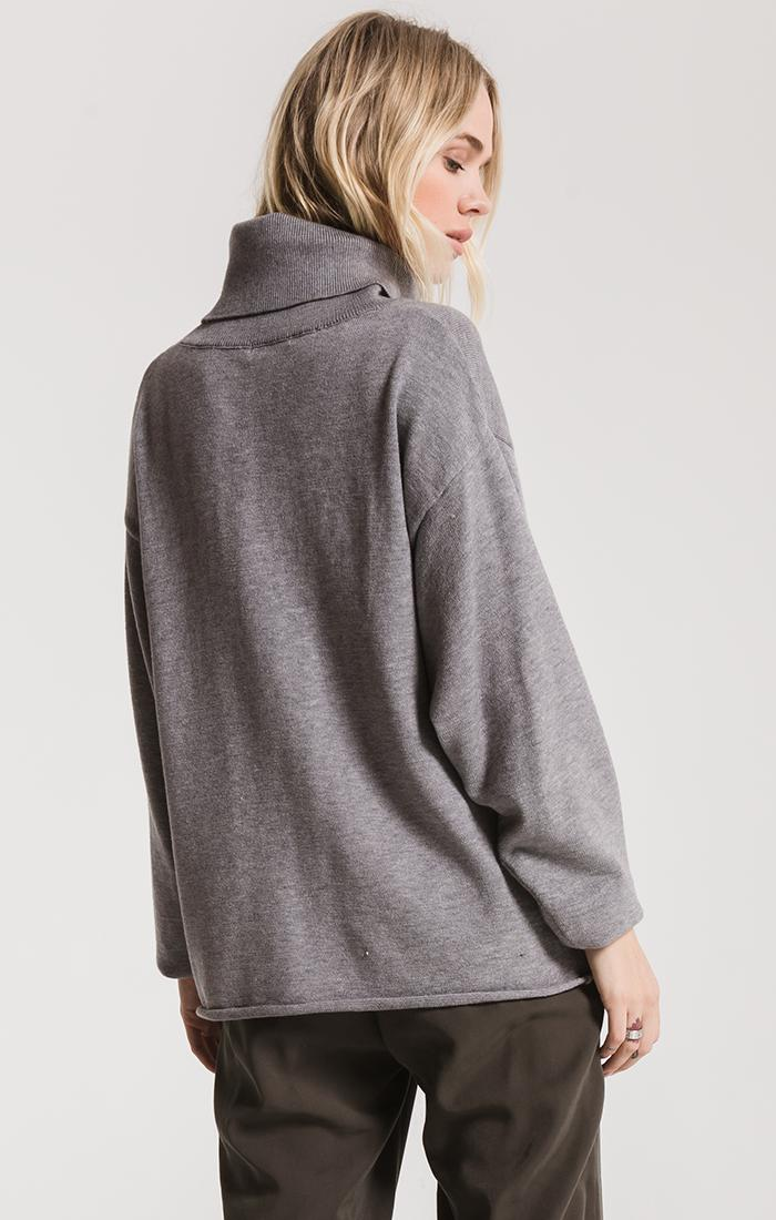 Sweaters Fort Greene Turtleneck Sweater By Rag Poets Heather Grey