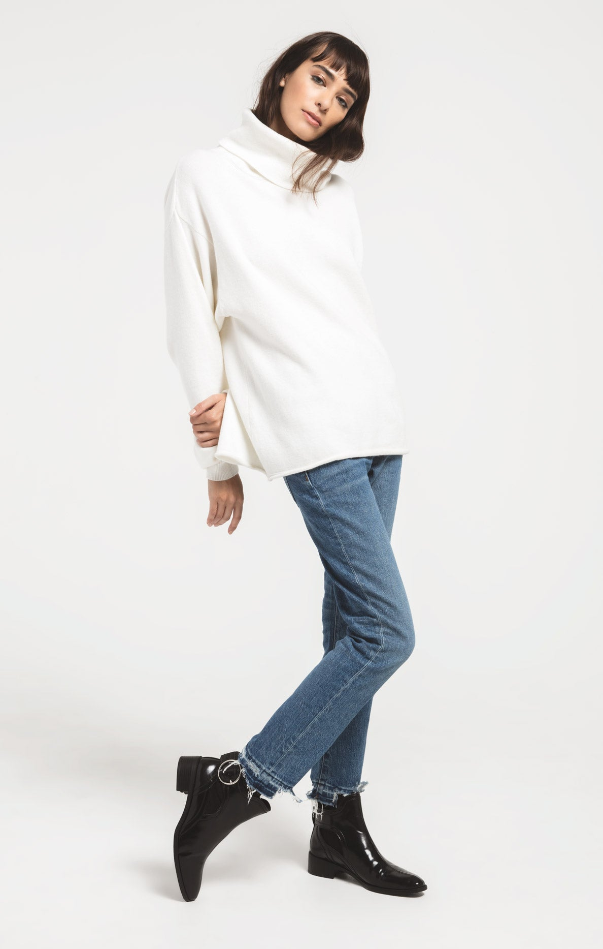 Sweaters Fort Greene Turtleneck Sweater By Rag Poets Winter White
