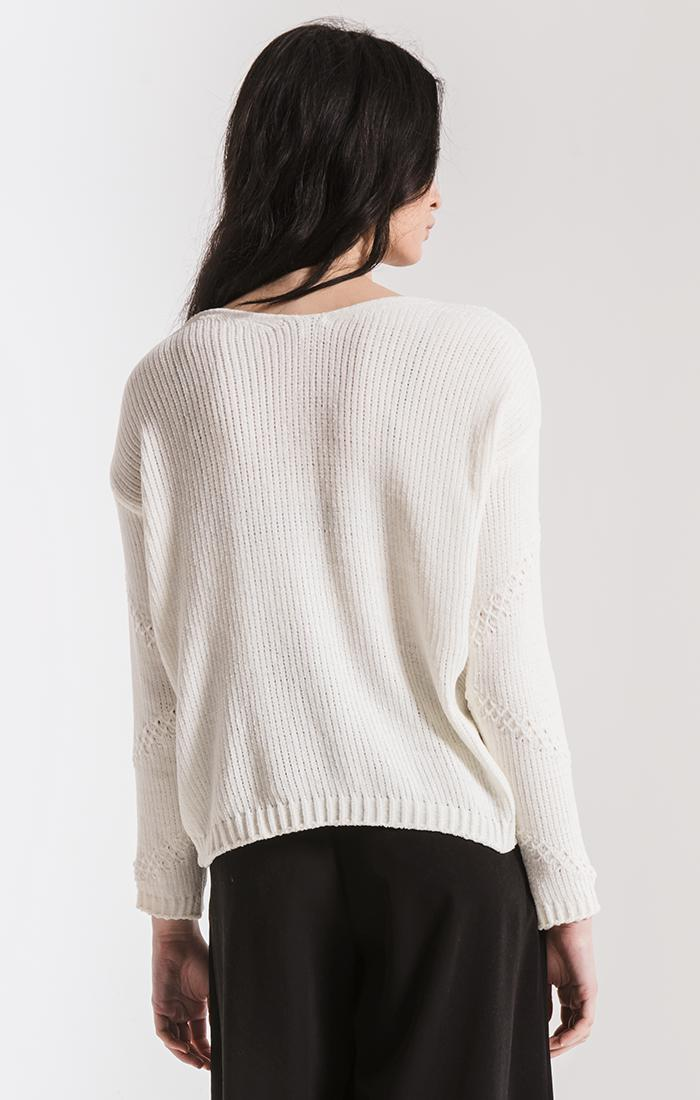 Sweaters Bococa Chenille Sweater By Rag Poets Cream