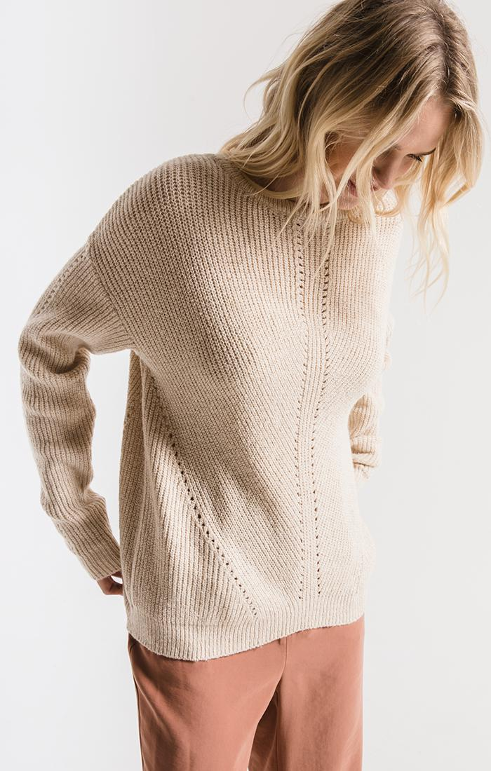 Sweaters Greenpoint Knit Sweater By Rag Poets Oatmeal
