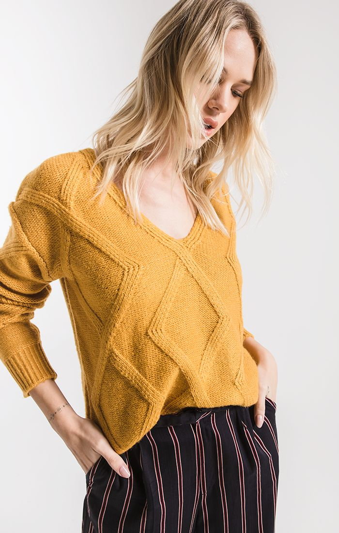 Sweaters Williamsburg Knit Sweater By Rag Poets Birch Yellow