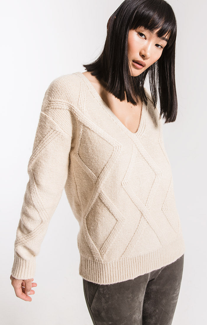 Sweaters Williamsburg Knit Sweater By Rag Poets Oatmeal