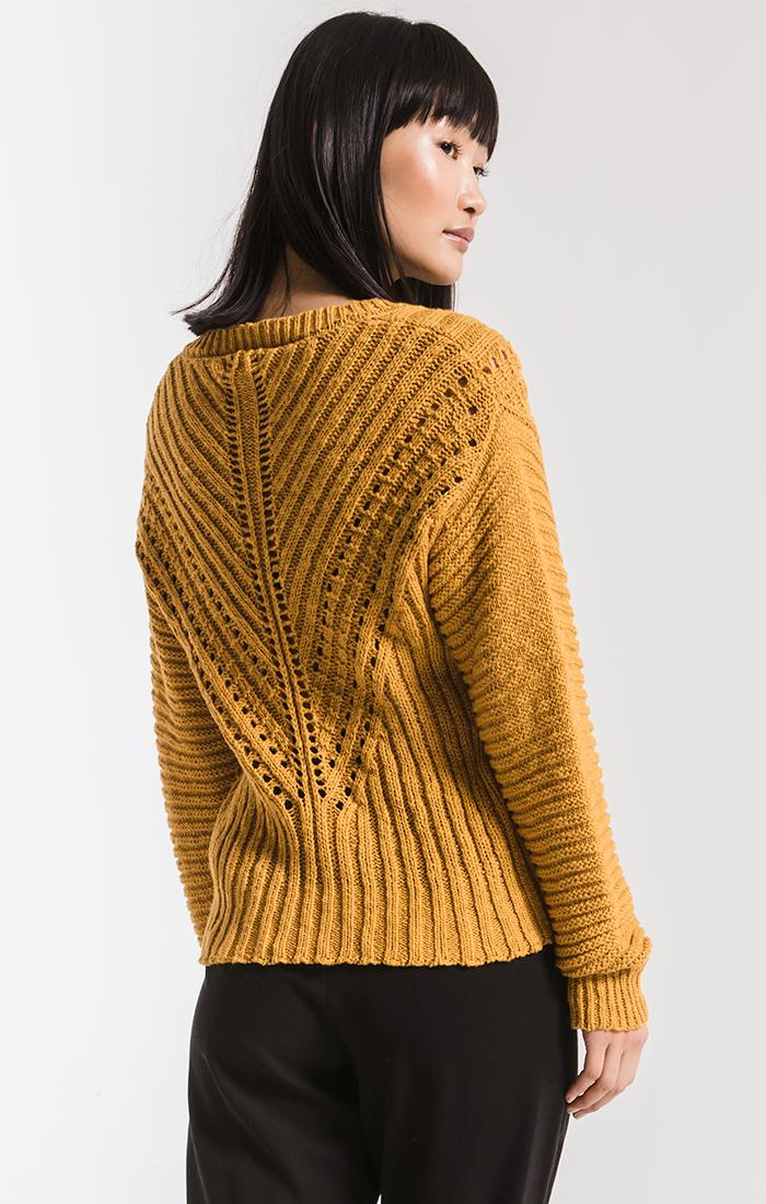 Sweaters Brownstone Open Knit Sweater By Rag Poets Birch Yellow