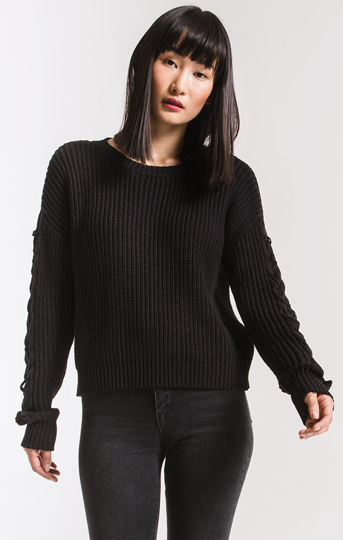 Sweaters Park Slope Cable Knit Sweater By Rag Poets Black
