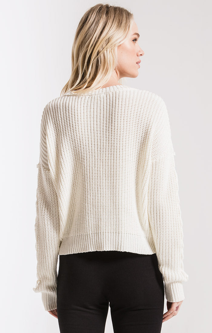 Sweaters Park Slope Cable Knit Sweater By Rag Poets Cream