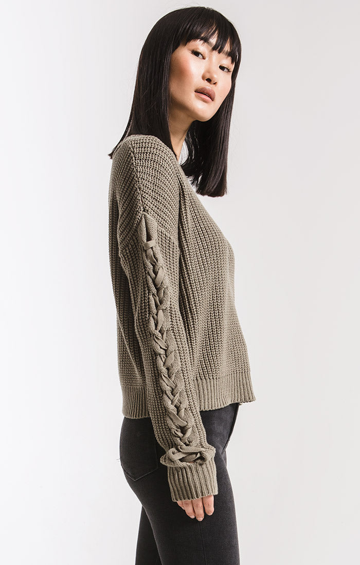 Sweaters Park Slope Cable Knit Sweater By Rag Poets Vetiver