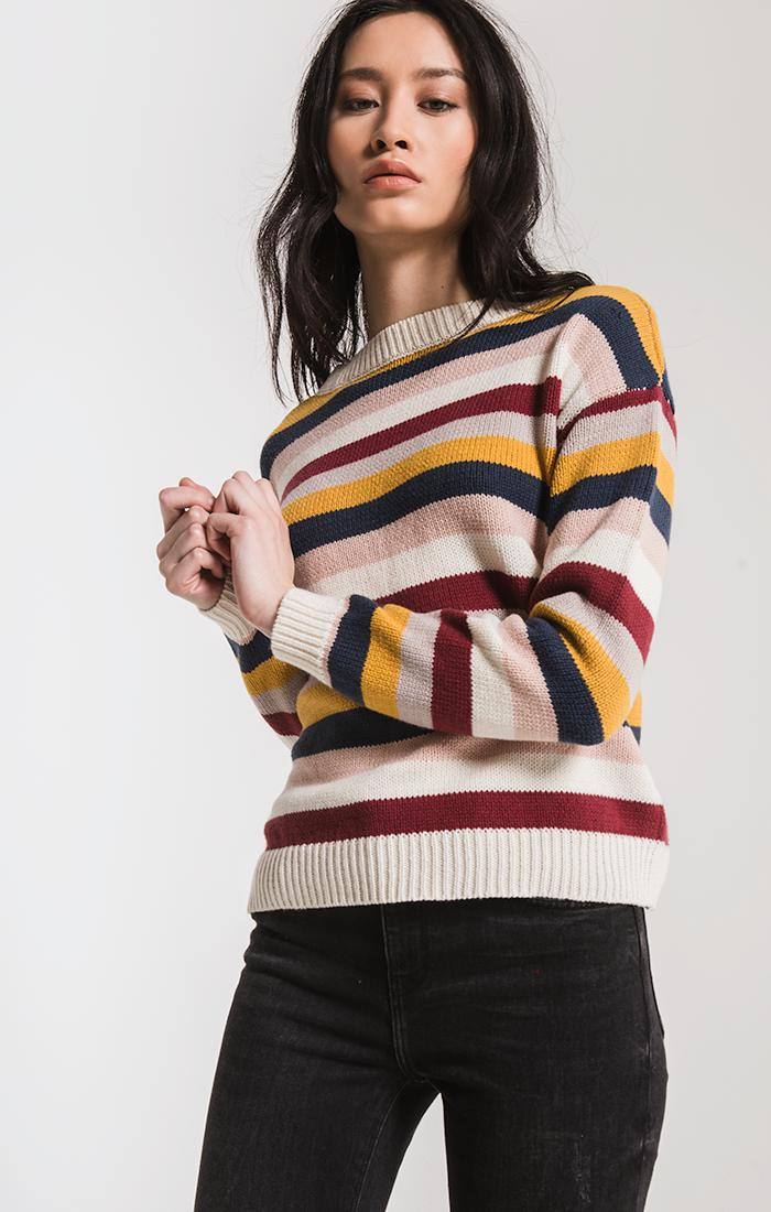 Sweaters Smith Striped Sweater By Rag Poets Cream