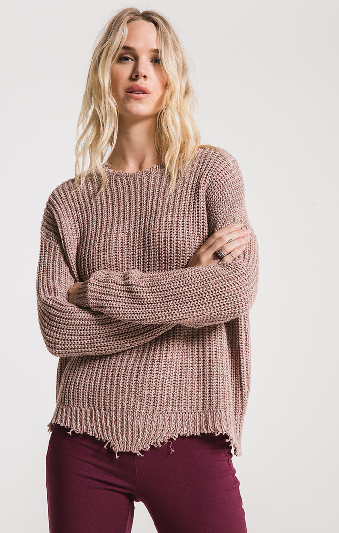 Sweaters Valle Knit Sweater By Rag Poets Deauville Mauve