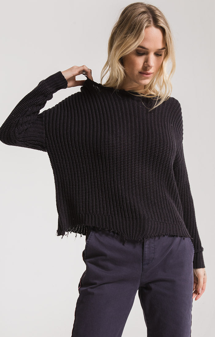 Sweaters Valle Knit Sweater By Rag Poets Graphite