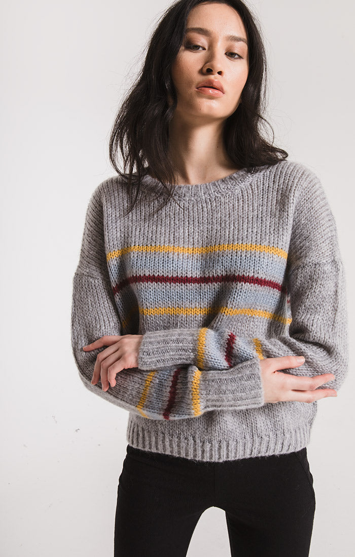 Sweaters Vernon Knit Sweater By Rag Poets Heather Grey