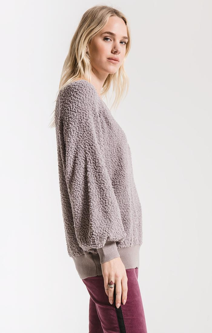 Tops Adams Textured Sweater By Rag Poets Ash Grey