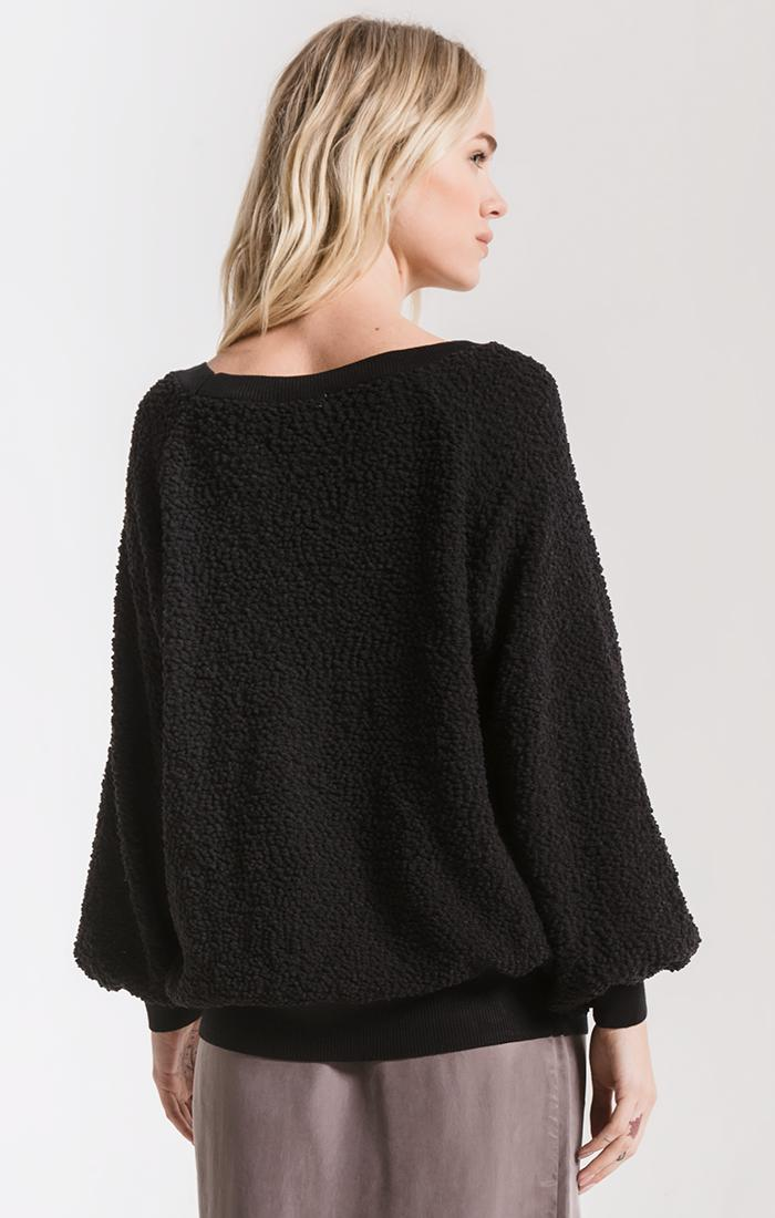 Tops Adams Textured Sweater By Rag Poets Black