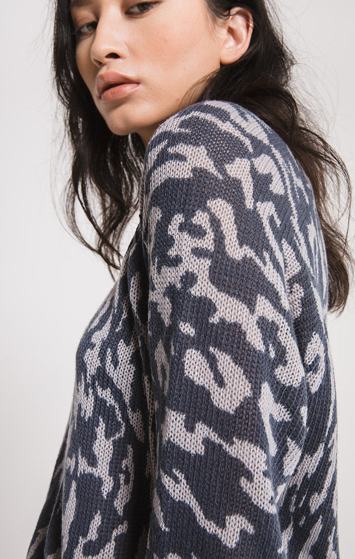 Sweaters Tompkins Printed Sweater By Rag Poets Graphite