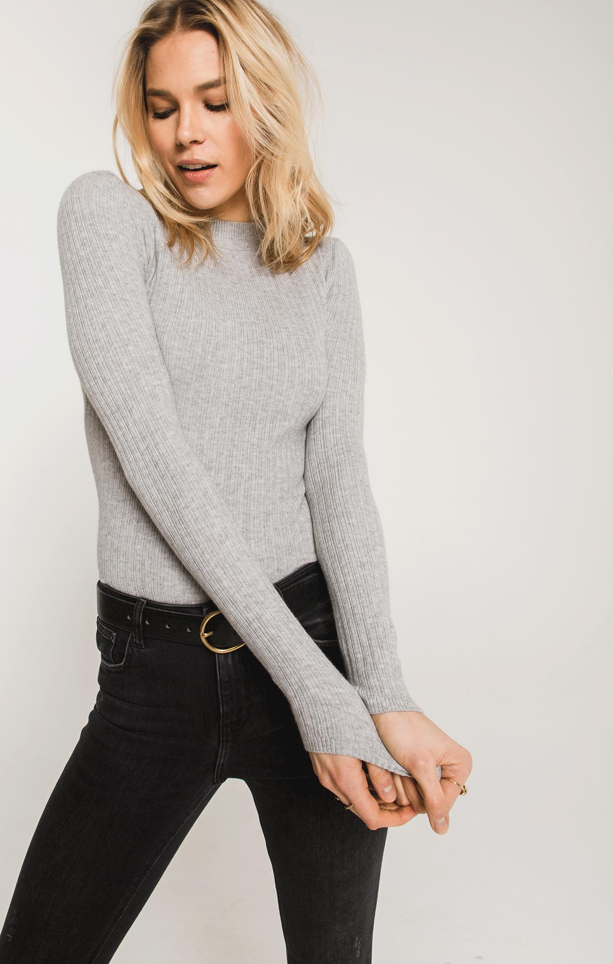 Sweaters Linden Mock Neck Sweater By Rag Poets Heather Grey
