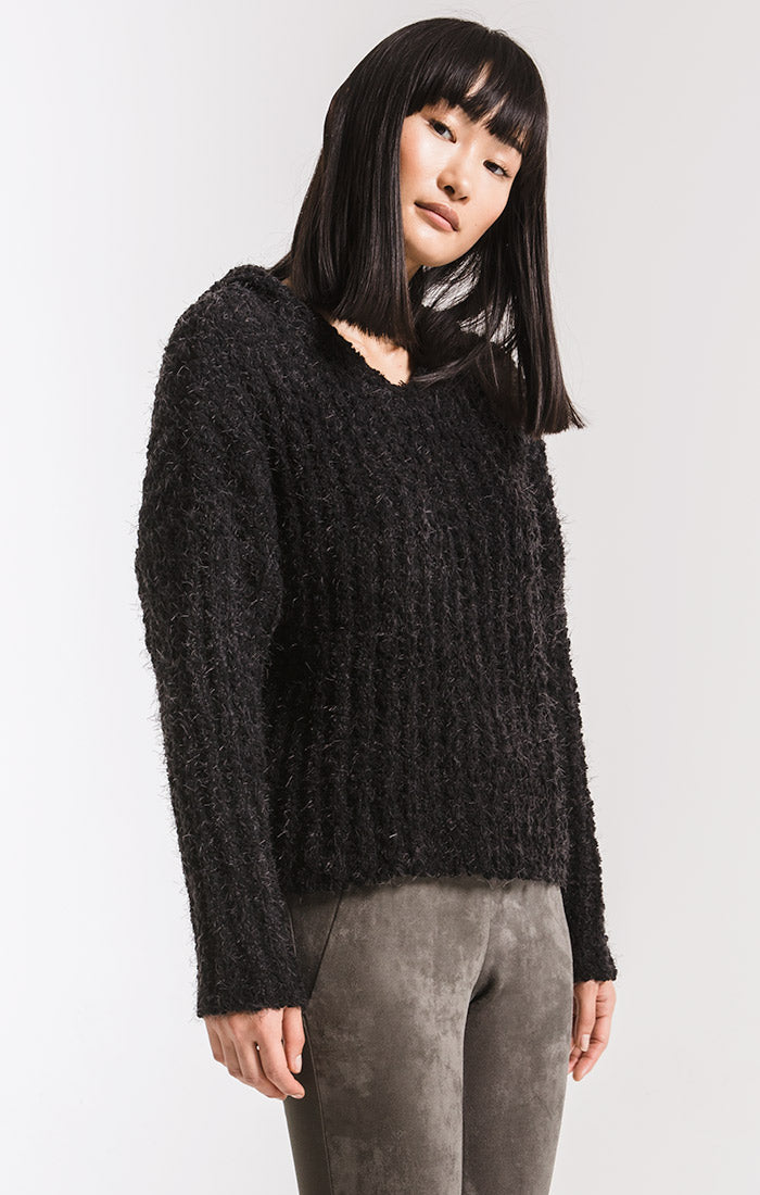 Sweaters Dwight Hooded Sweater By Rag Poets Black