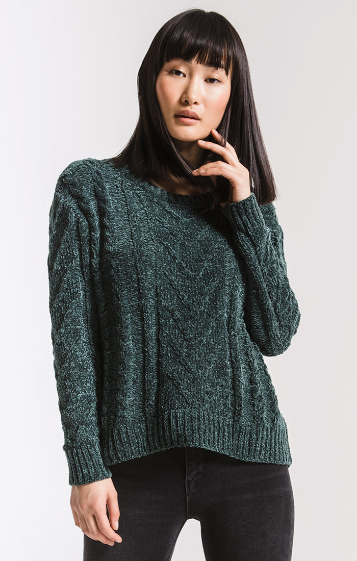 Sweaters Van Brunt Chenille Sweater By Rag Poets Pine Grove