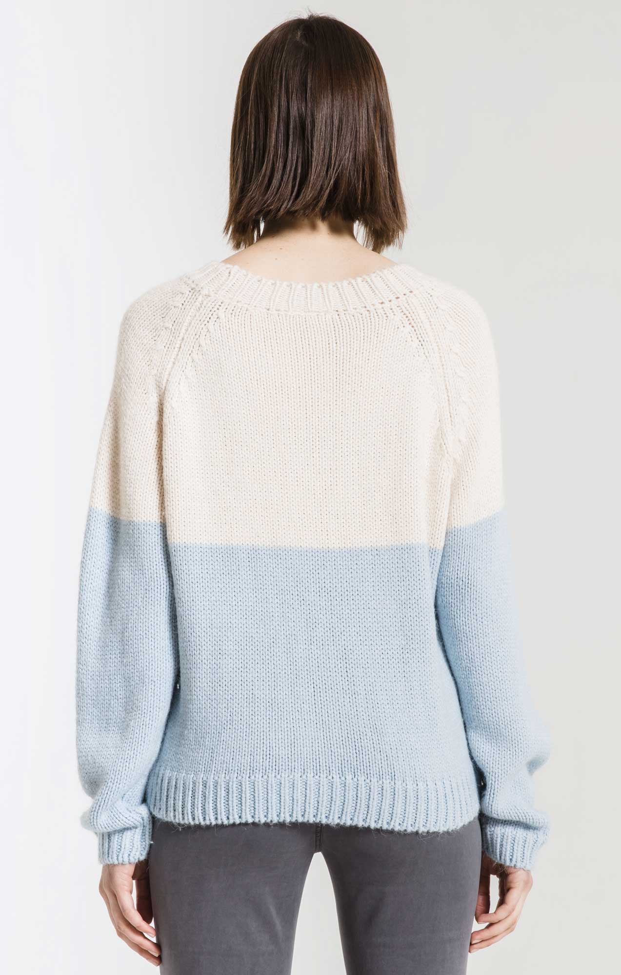 Sweaters Alma Colorblock Sweater By Rag Poets Imperial Blue