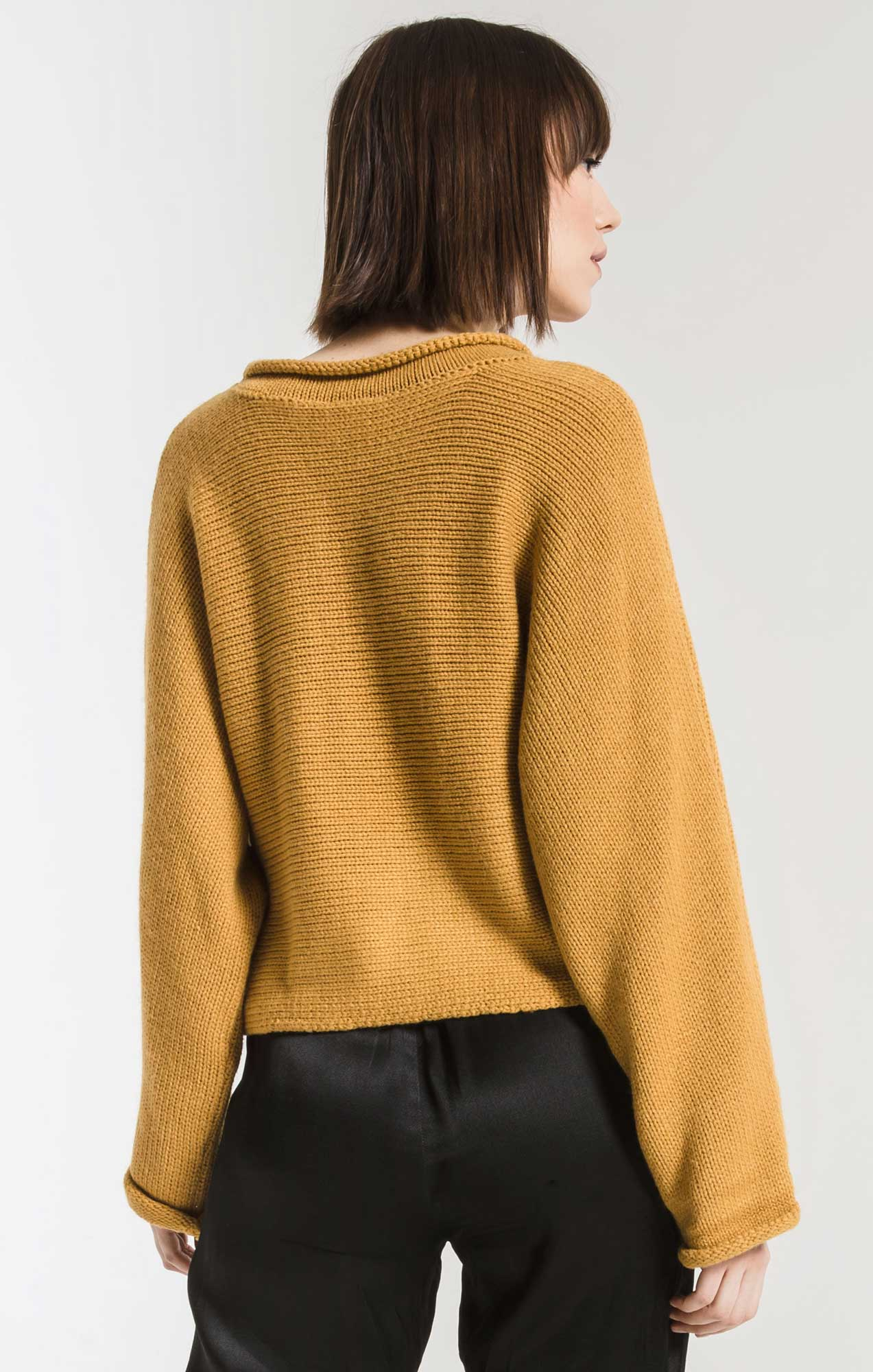 Sweaters Alberte Cropped Dolman Sweater By Rag Poets Honey Gold