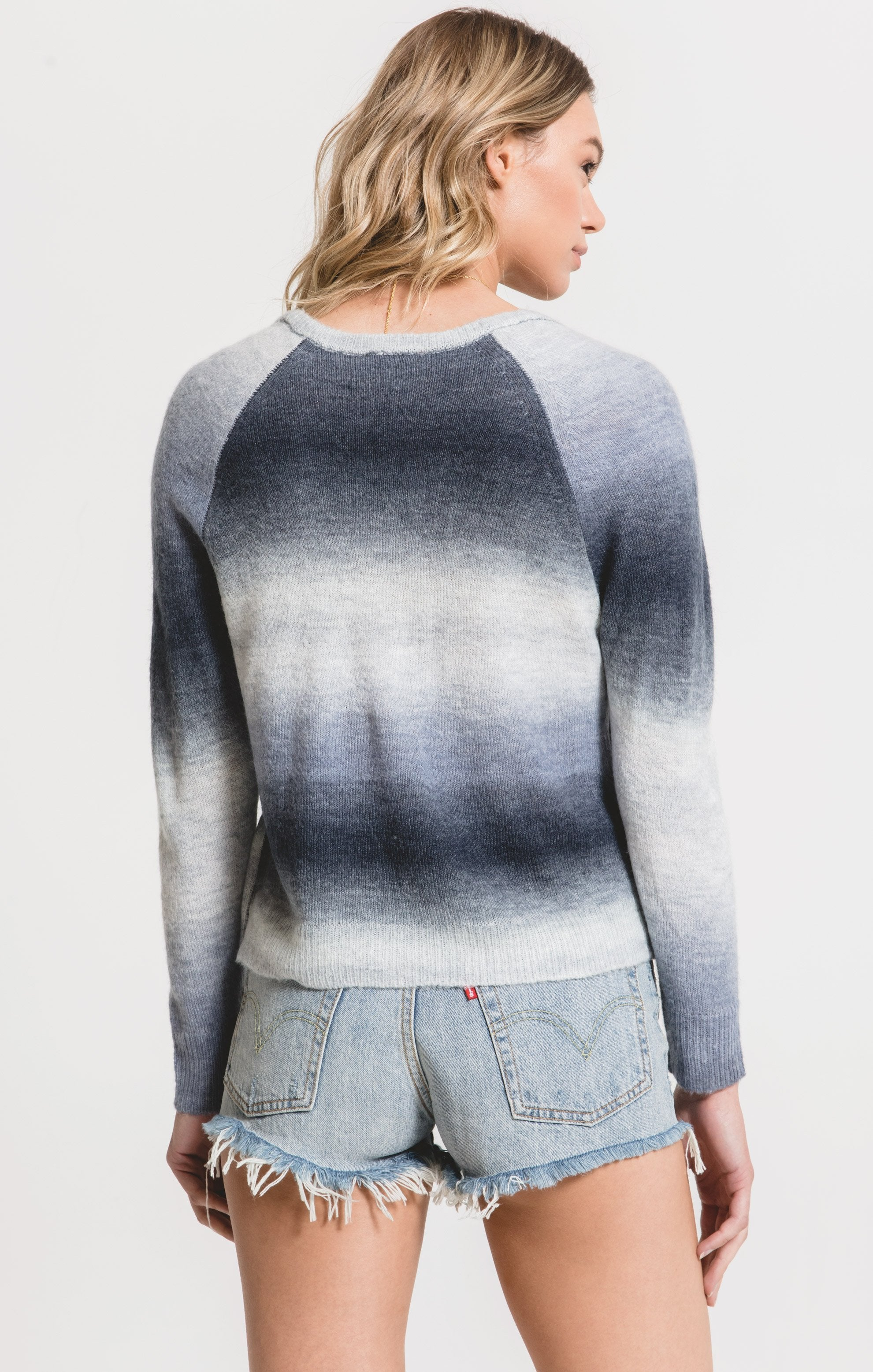 Sweaters Capri Ombre Sweater by Rag Poets Black Iris