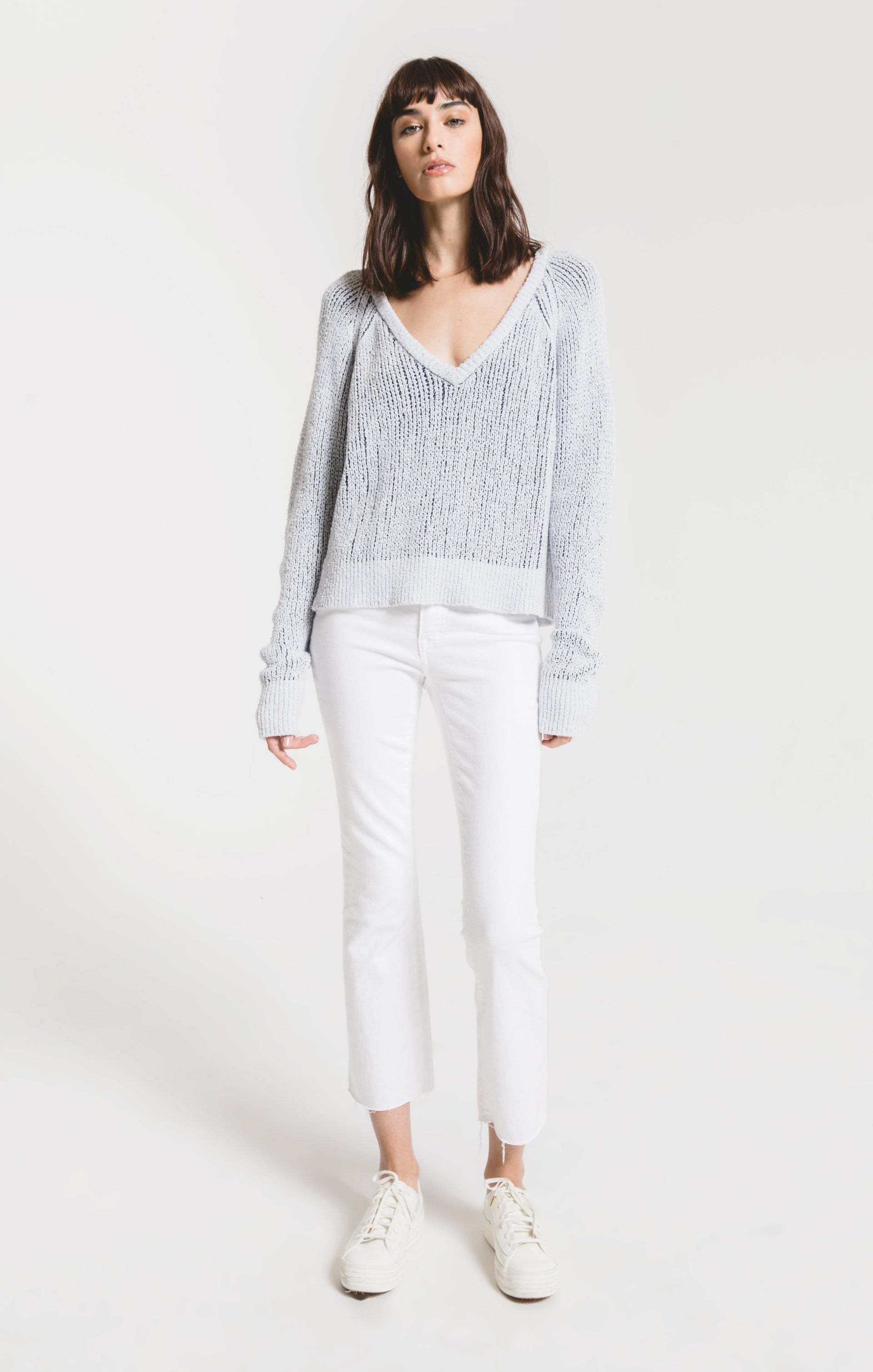 Sweaters Varenna Raglan Sweater by Rag Poets Soft Blue