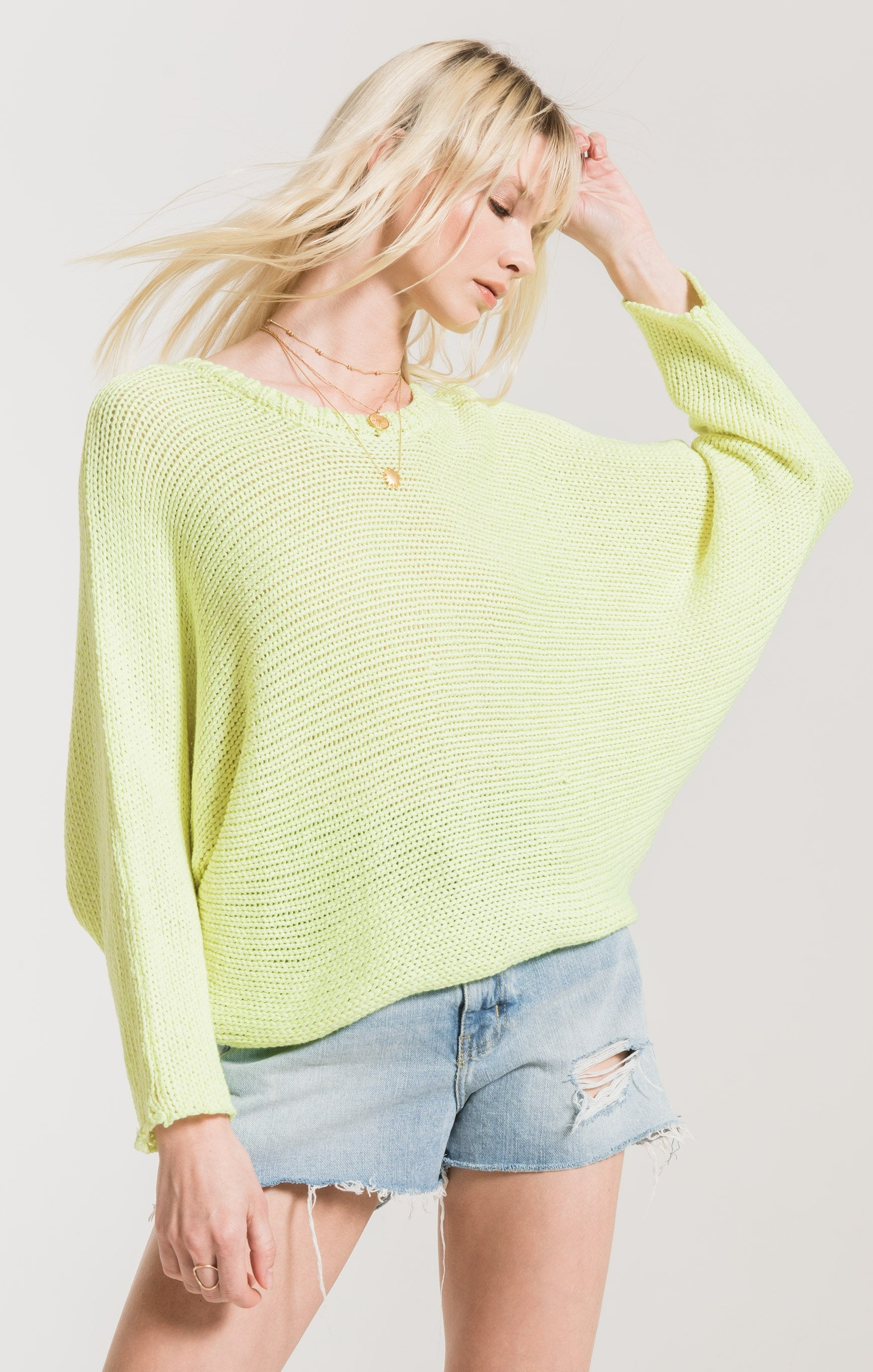 Sweaters Cipriani Crewneck Sweater by Rag Poets Neon Yellow