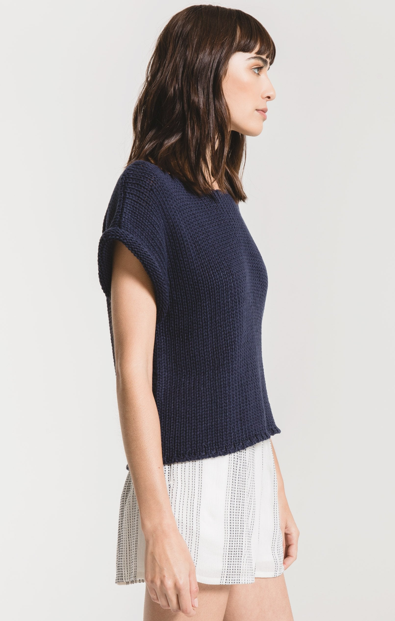 Tops Fontelina Sweater by Rag Poets Black Iris
