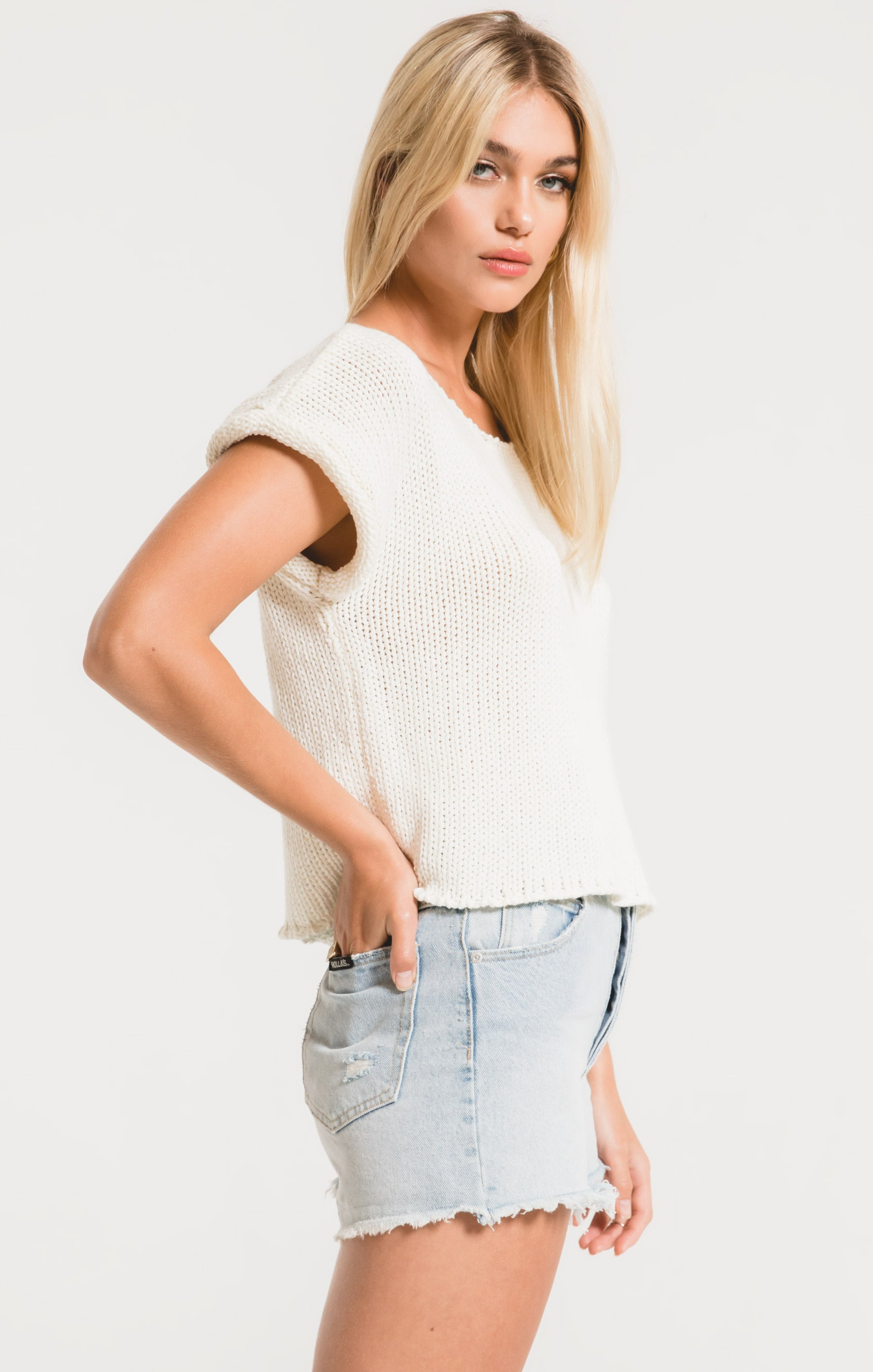 Tops Fontelina Sweater by Rag Poets White