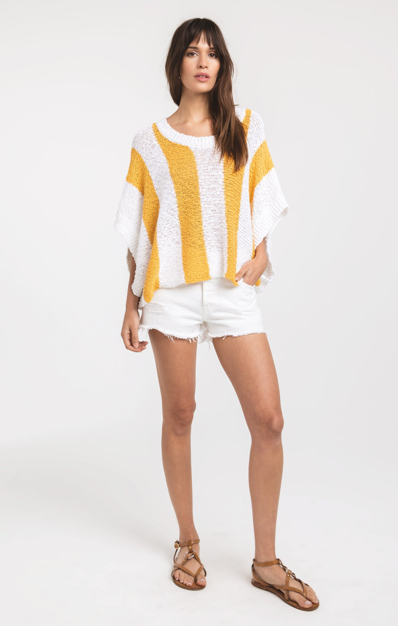 Tops Legian Knitwear Top by Rag Poets Buff Yellow