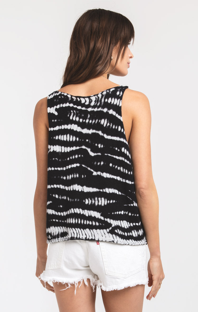 Tops Kunja Knitwear Tank by Rag Poets Black