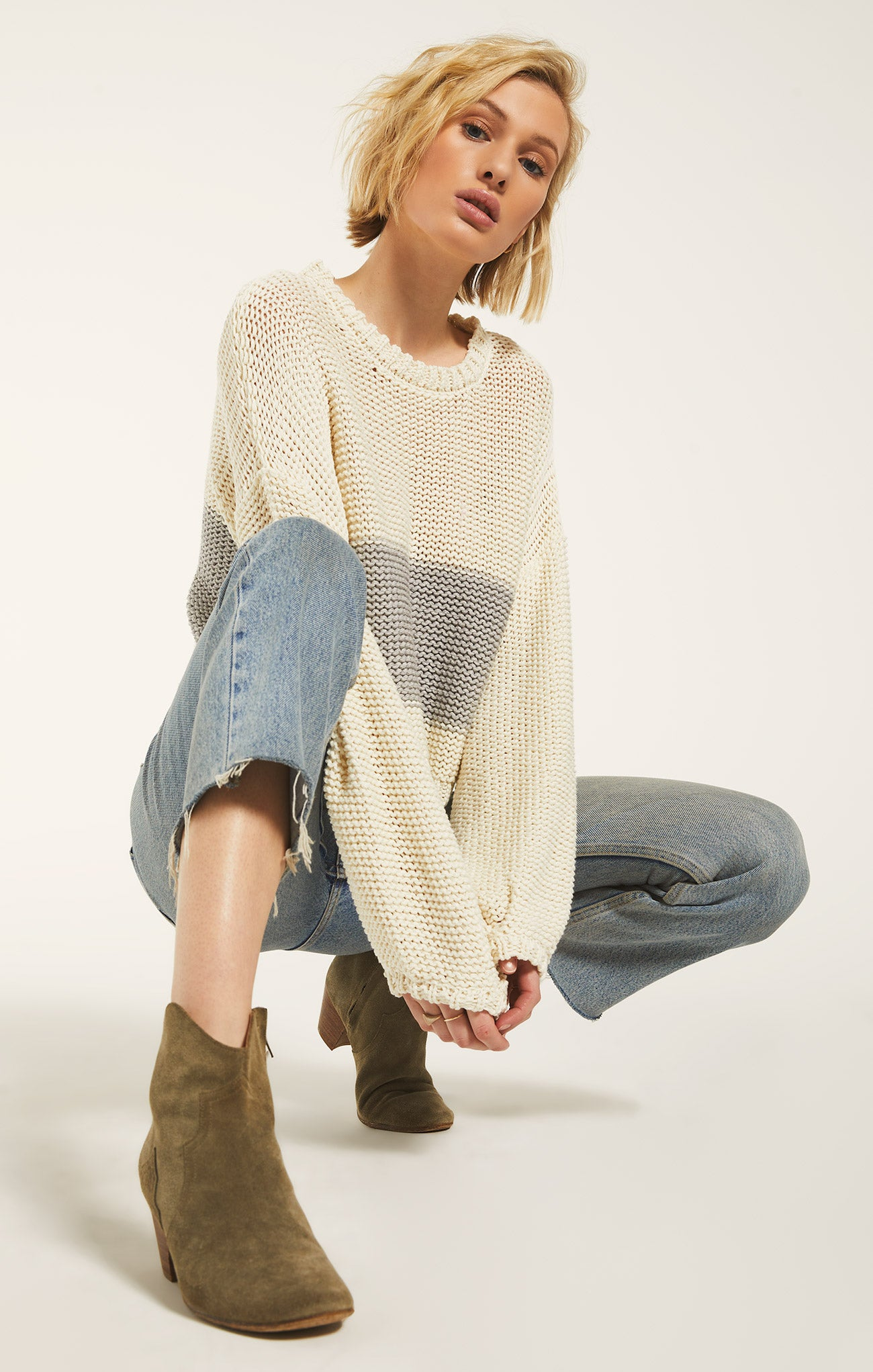 Sweaters Lafayette Sweater by Rag Poets Ivory