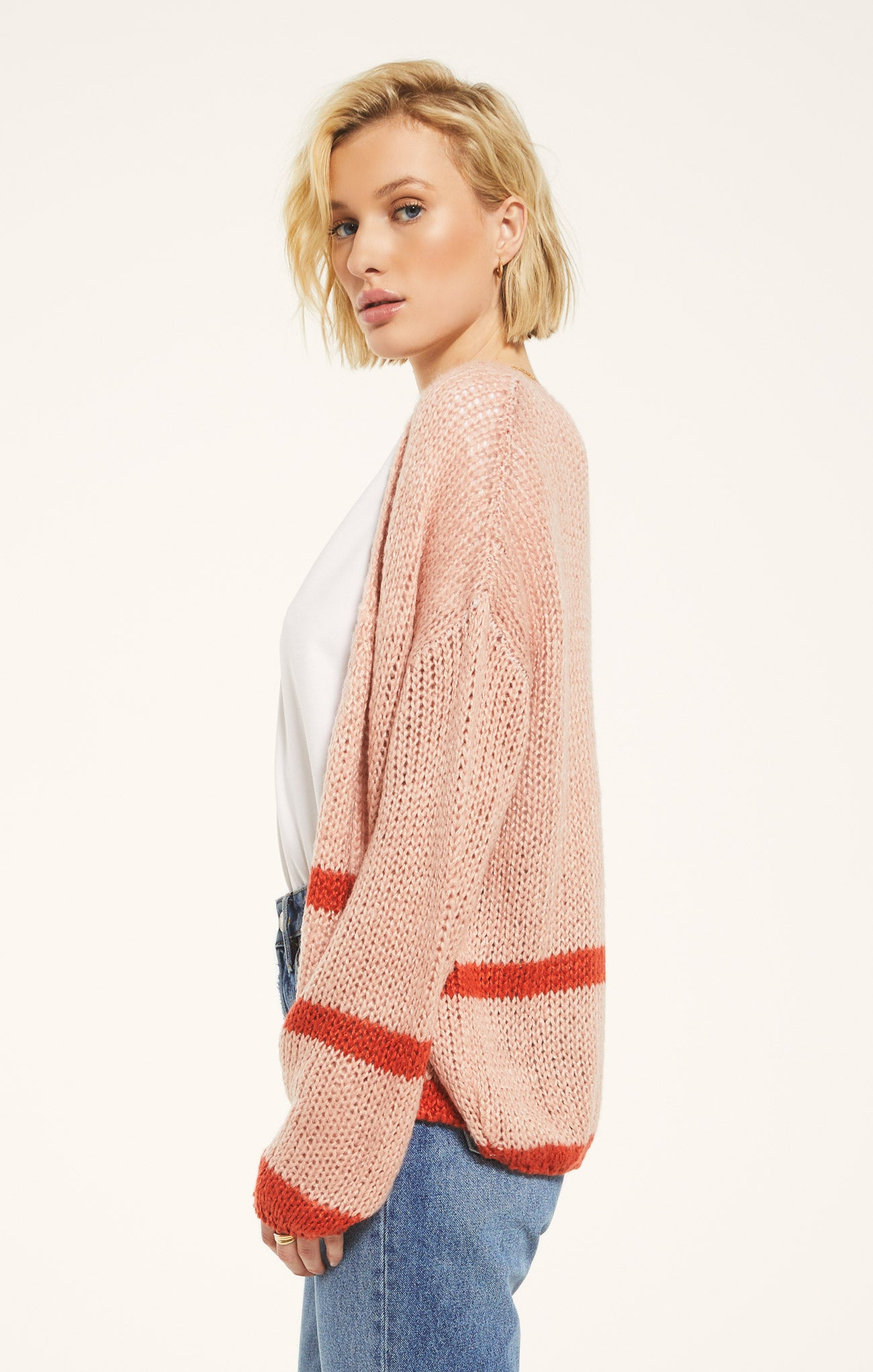 Sweaters Regents Sweater by Rag Poets Pale Pink